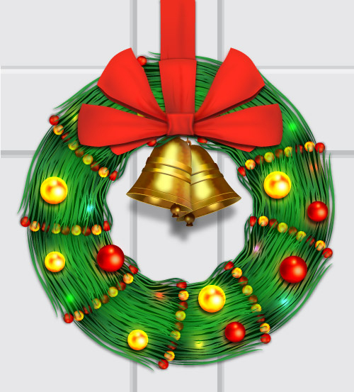 How to Create Christmas Ornament Wreath in Illustrator Tutorial