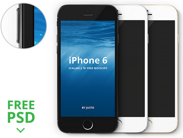 iPhone 6 - Scalable Mockups 4.7' by JustD