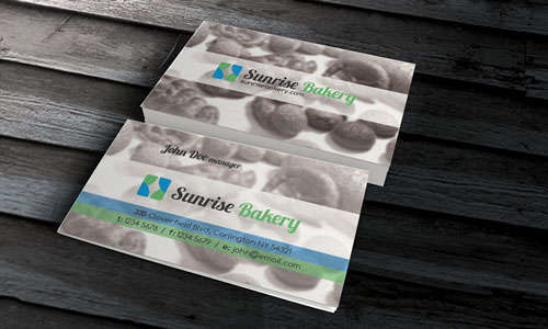 Bakery & Confectionery Business Card Template