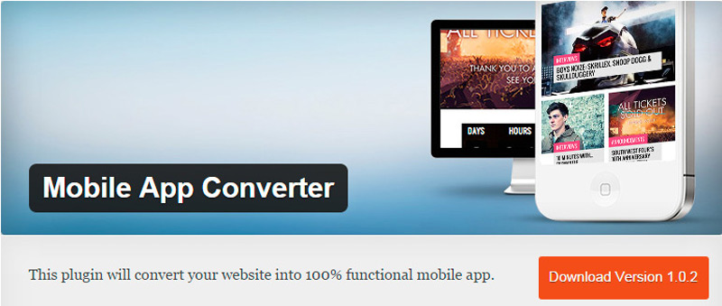 Mobile app converter wordpress plugin