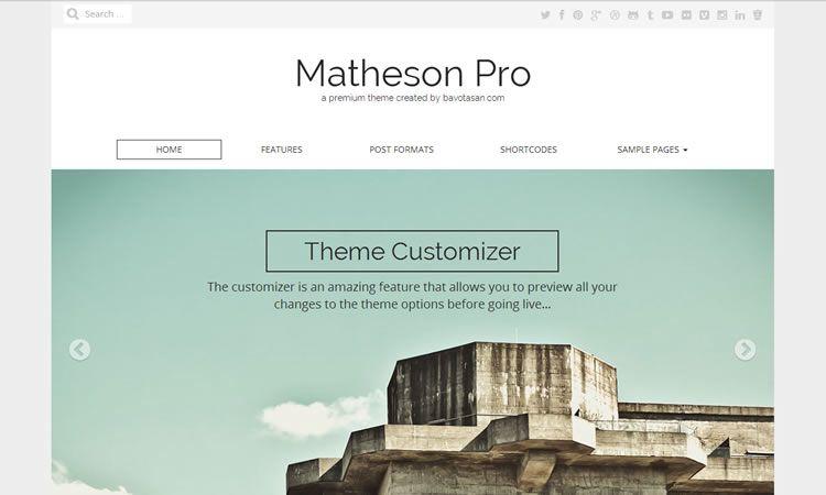 Matheson (Business theme)