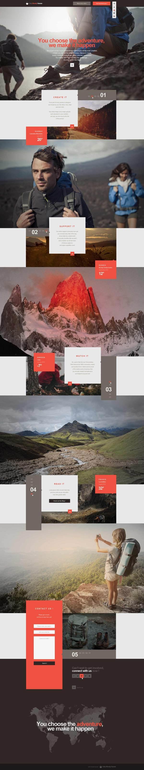 OBH Landing Page Concept by Thomas Le Corre