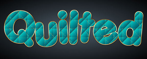 Create Warm Fuzzies and a Quilted Text Vector in Illustrator