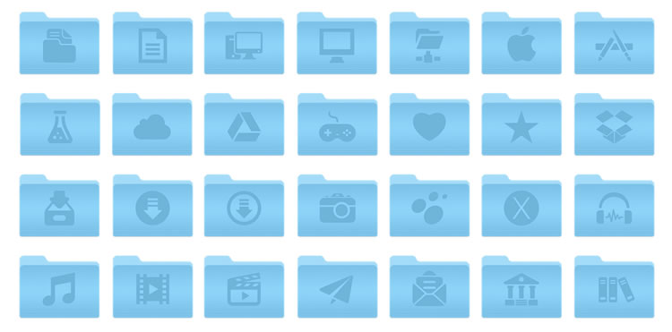 Freebie: 46 OSX Yosemite Folders Icons
