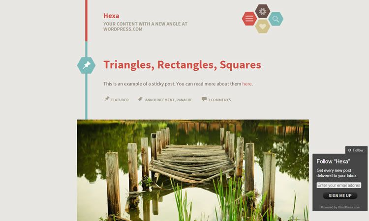 Hexa (Blogging theme)