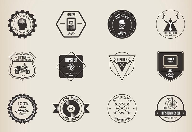32 hipster badges