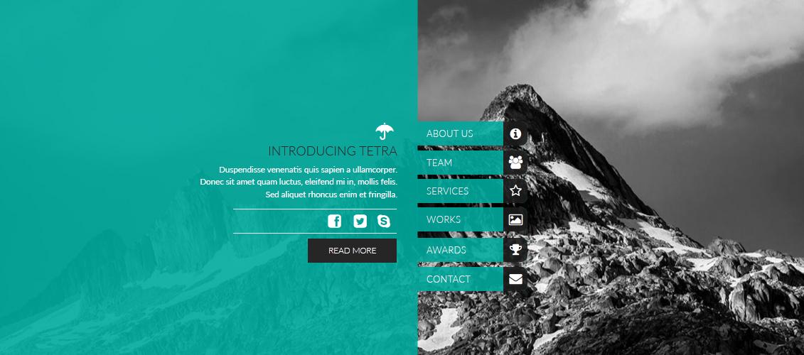 Tetra   Adobe Muse Template