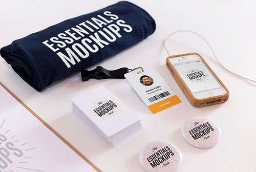Essentials Mockups Free Set