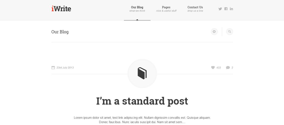 iWrite - Minimal Responsive Blogging Theme