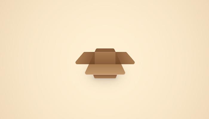 open cardboard box icon