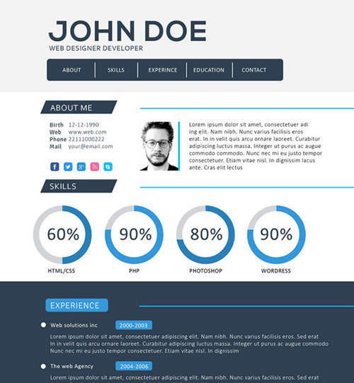 19 Free Professional Resume Templates 2014 - iDevie