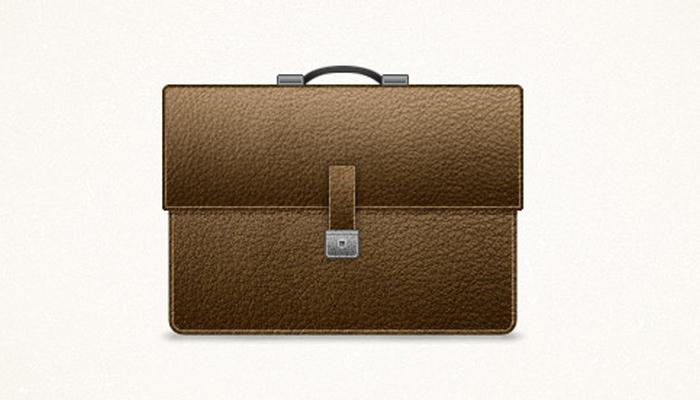 detailed briefcase icon design tutorial