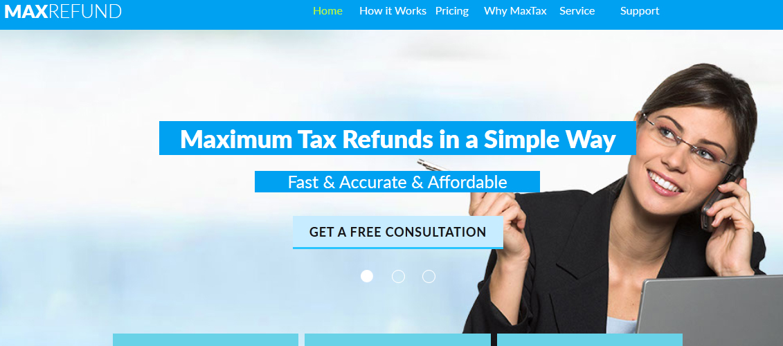 Tax Service - Max Refunds - Muse Template