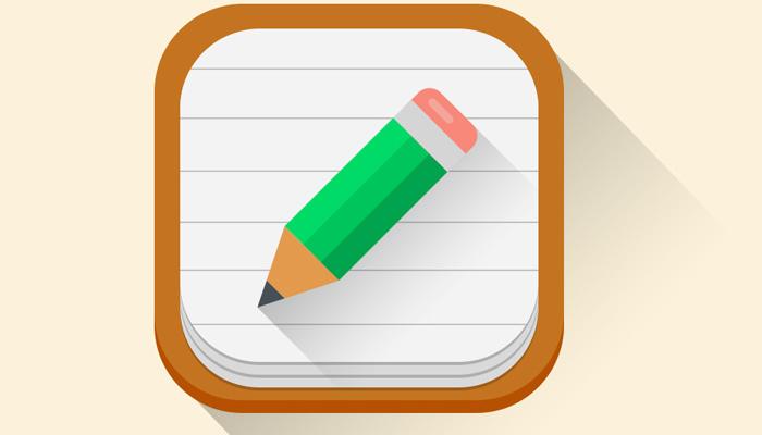 flat pencil paper app icon vector ios7