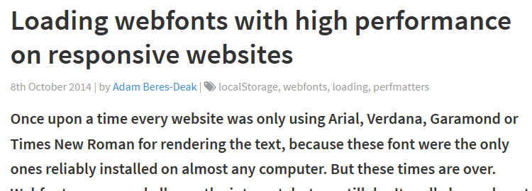 Loading webfonts with high performance on responsive websites by Adam Beres-Deak