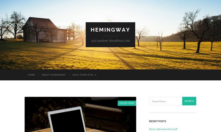 Hemingway (Two-column theme for blogging)