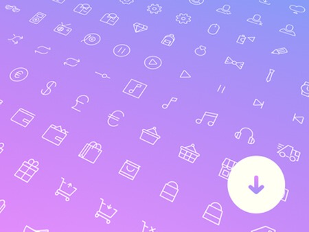Free Download : 100 Simple Line Icons V.2