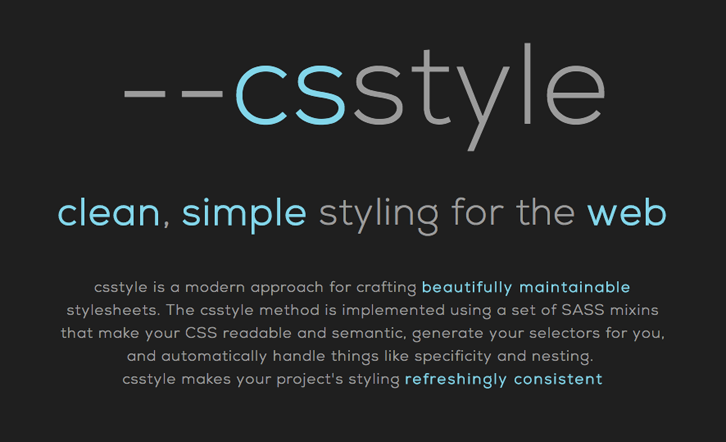Crafting Beautifully Maintainable Stylesheets with Csstyle