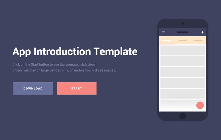 Free Download: Mobile App Introduction Template