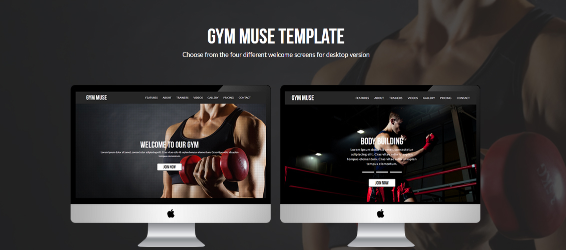 Gym Responsive Muse Template