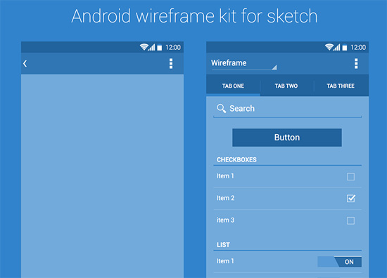 android-wireframe-kit