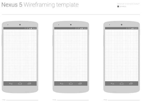 nexus 5 skin template - 25 free wireframe style uis mockups and templates idevie