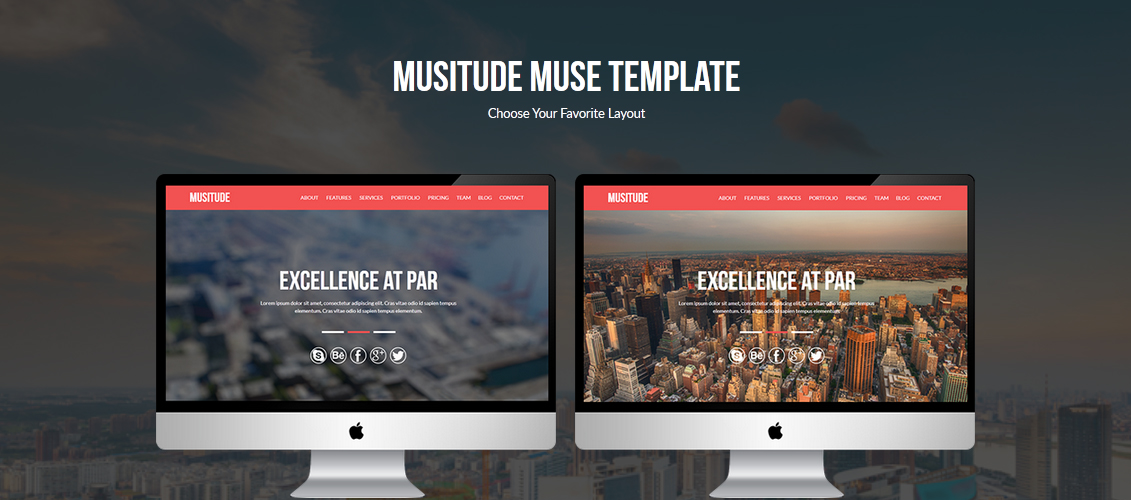 Musitude - One Page Parallax Muse Template