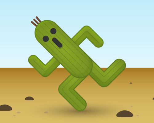 Create a Cactuar style character in Illustrator