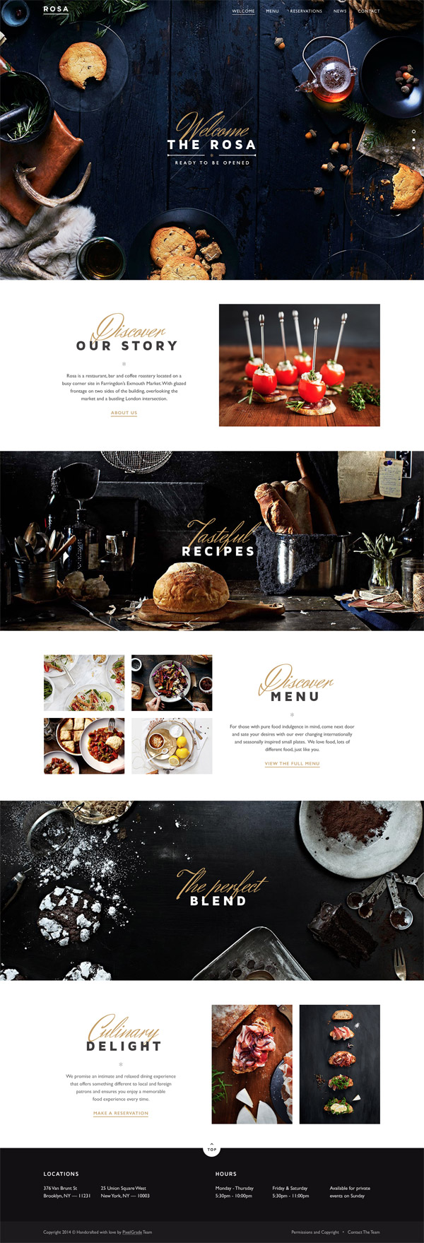 Rosa Restaurant Website by George Olaru
