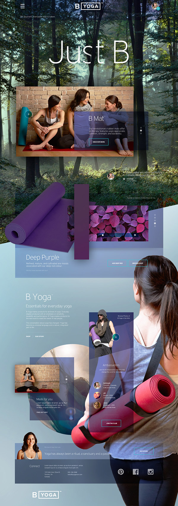 B Yoga Website by Agency Dominion