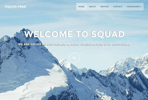 Squadfree Free Bootstrap Template For Creative