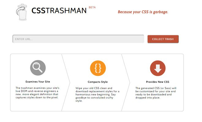 css trashman resource code cleaning