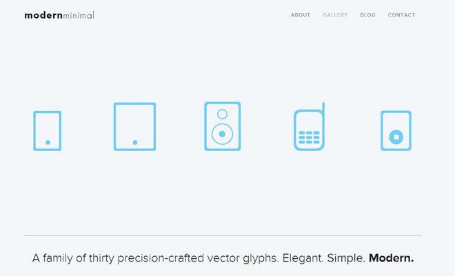 modern minimal glyphs vectors free