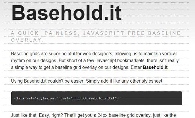 basehold javascript baseline text overlay script