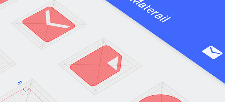 Material Design Icon Grid by Jiangping Hsu