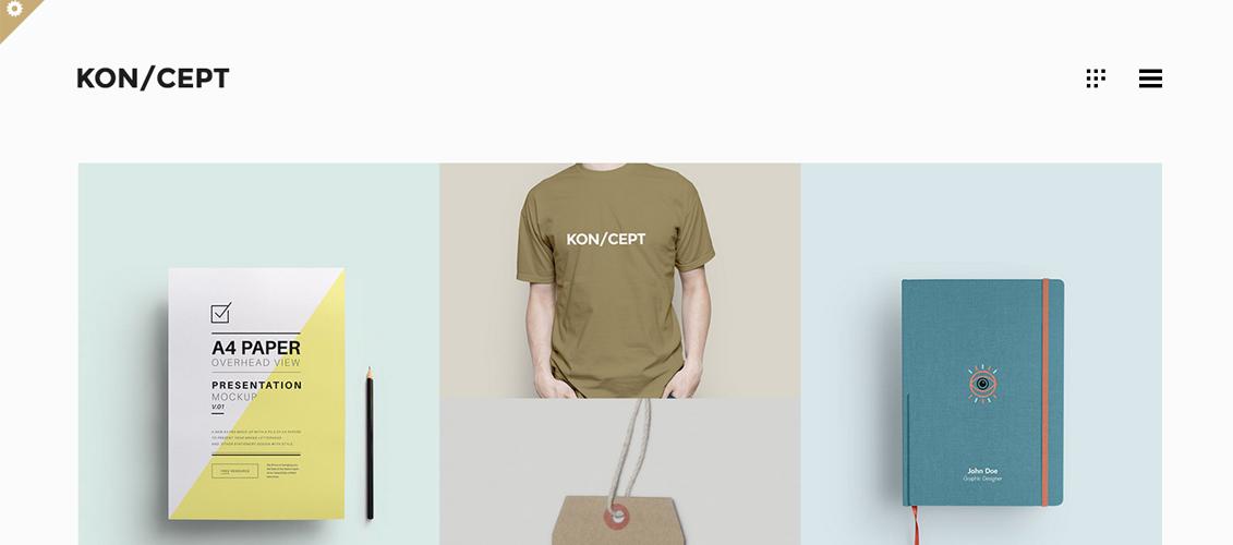 KON CEPT - A Portfolio Theme for Creative People