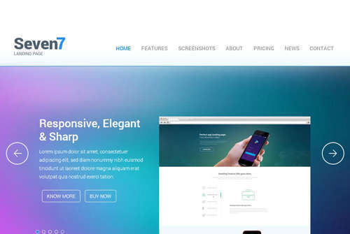 Seven7 Landing Page Flat Bootstrap Responsive Web Template