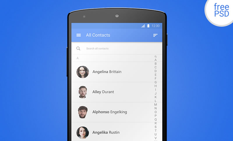 Android Material Design Template by Donart Bytes Selimi