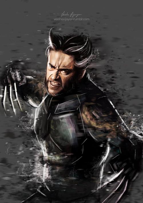 Wolverine - X-Men by VarshaVijayan