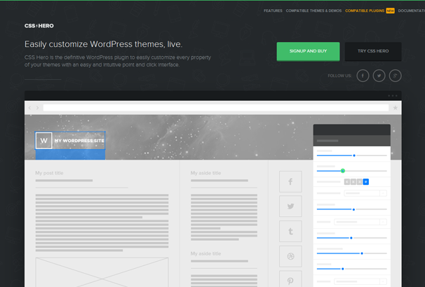 How To: Live Edit WordPress Themes CSS with the CSSHero Plugin