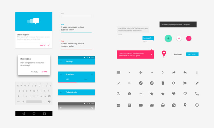 Free Material Design GUI Templates Icon Sets IDevie - Google design templates