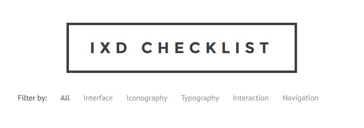 IxD - An interaction design checklist