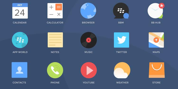 Freebie: Blackberry Icons by Ghani Pradita