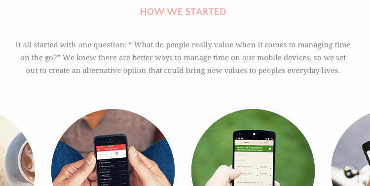 "Photo subtitle: ""Peek"" calendar - ""How we started"". Check out the complete story in: http://www.peekcalendar.com/story.html"