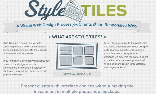 style tiles webapp online resource code