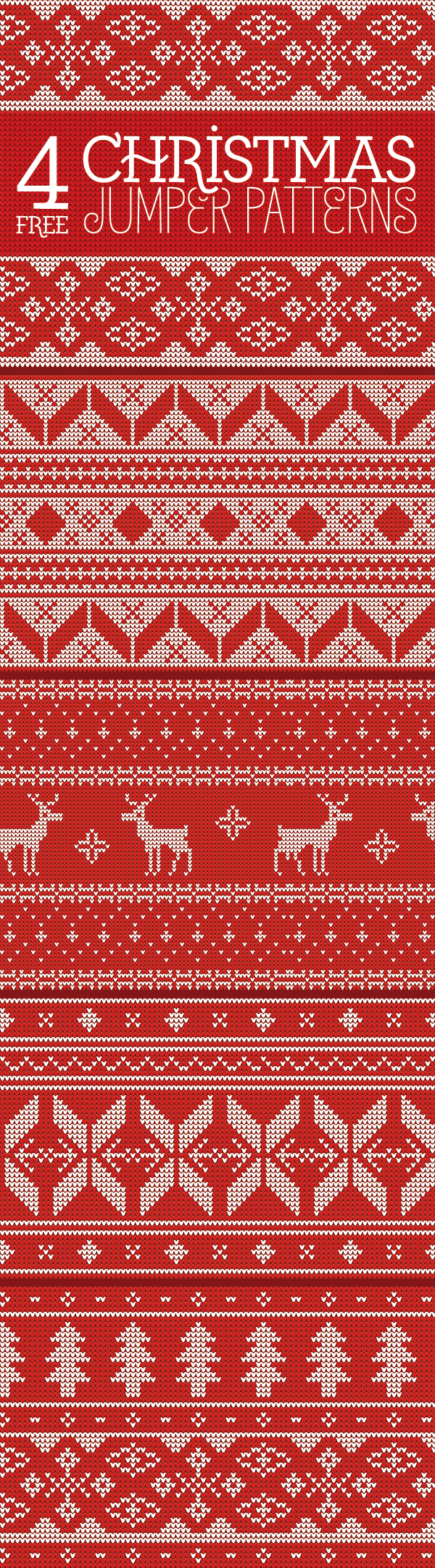Free Christmas Knitting Patterns Jumpers : Free seamless knitted christmas jumper patterns idevie