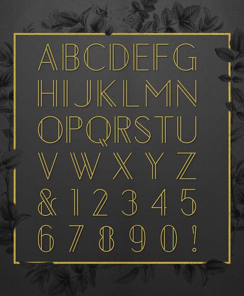 Chelsea Font Letters