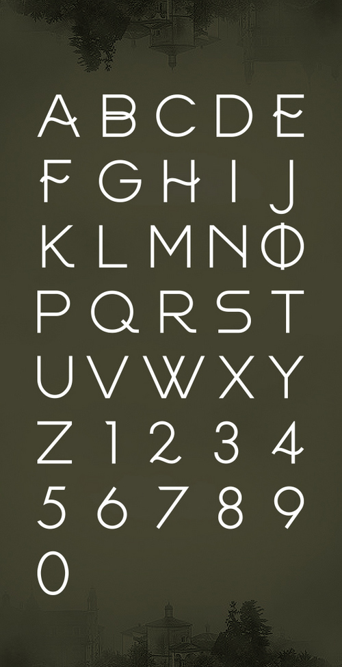 Frinco Font Letters