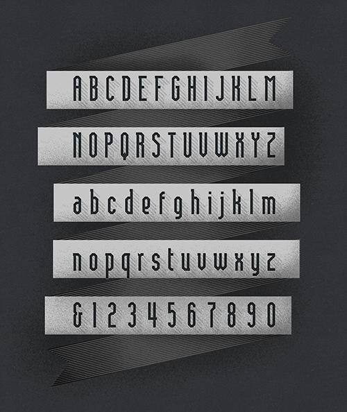Brasilia Font Letters