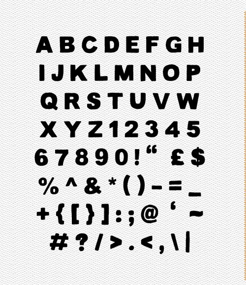 Lance Font Letters
